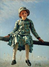 Ilya REPIN. Dragonfly. 1884