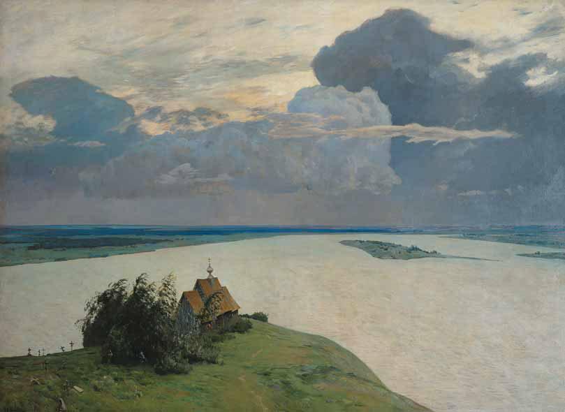 Isaac LEVITAN. Above Eternal Rest. 1894