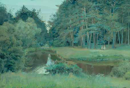 Konstantin SOMOV. The Twilight in the Old Park. 1897