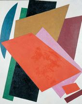 Lyubov POPOVA. Painted Architectonics. 1917 (?)