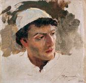 Vasily POLENOV. Head of a Young Jew. 1884