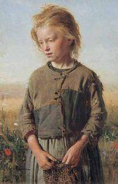 Ilya REPIN. A Beggar-Girl (France. Velles). 1874