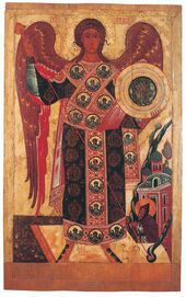 Archangel Michael and the Miracle in Khony. Late 15th – early 16th century