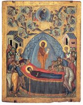 The Dormition of the Virgin. Late 15th century