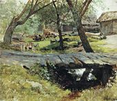 Isaak LEVITAN. The Footbridge. Savvinskaya Sloboda. 1884