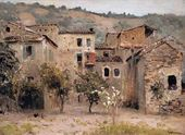 Isaak LEVITAN. Near Bordighera. North Italy. 1890
