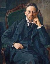 Joseph BRAZ. Portrait of the writer Anton Chekhov. 1898