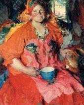 Abram ARKHIPOV. A Girl with a Jug. 1927