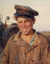 Konstantin MAKSIMOV. Sashka, the Tractordriver. 1954