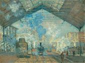 Claude MONET. The Saint-Lazare Station. 1877