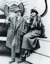 Alexander and Angelica Archipenko on board the S.S. Mongolia, emigrating to the United States, October 1923