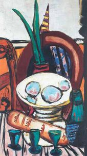 Max Beckmann. Still-life with Three Glasses. 1944