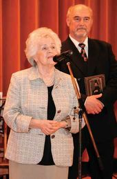 Director of the Pushkin Museum of Fine Arts Irina Antonova congratulates the Tretyakov Gallery on its jubilee. 23 May 2006