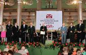 Grand assembly dedicated to the 150th anniversary of the Tretyakov Gallery at the Hall of Columns in Moscow. 25 May 2006