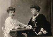 Lyubov Pavlovna Gritsenko-Bakst and Alexandra Pavlovna Botkina. St. Petersburg, 1903