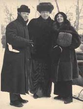 Pablo Casals, Alexandra Pavlovna Botkina and Guilhermina Suggia-Casals. St. Petersburg. 1912