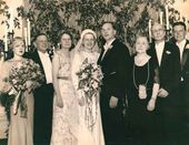 Wedding of Ziloti's younger son Levko. Next to him: Vera Pavlovna and Alexander Ilyich Ziloti. USA. 19 July 1935