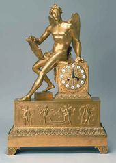 """Winged Genius"" mantelpiece clock. France. Paris. Julien (Jules) Chopin factory. The 1810s"