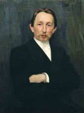 Nikolai KUZNETSOV. Portrait of Viktor Vasnetsov. 1891