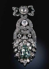 Franz Michael DIESPACH. Hat Agraffe with the Dresden Green Diamond from the Diamond Garniture. Dresden/Prague. 1769