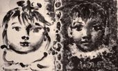 Pablo PICASSO. Heads of a Boy and a Girl. 1959–1960
