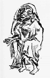 Oskar KOKOSHKA. The Beggar. 1938