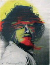 Arnulf RAINER. Self-portrait in Rembrandt's Style II. 1969–1970