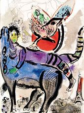 Marc CHAGALL. From Paris Period. 1954