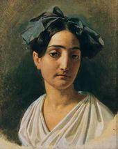 Portrait of Vittoria Caldoni. 1834
