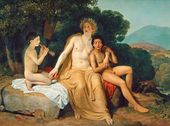Apollo, Hyacinth and Cyparissus, Playing Music and Singing. 1831–1834