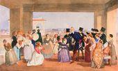 October Festival in Rome. A scene on the balcony (invitation to a dance). 1842