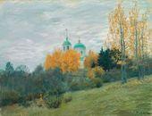 Isaac LEVITAN. Autumn Landscape with a Church. 1890