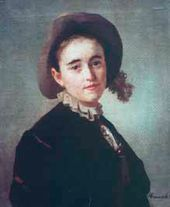 Ivan KRAMSKOY. Portrait of a Girl in a Little Felt Bonnet. 1883