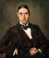 Sergei MALYUTIN. Portrait of Poet Georgy Ivanov. 1915