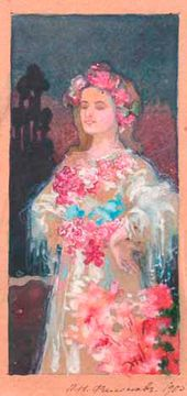 Woman with Flowers. 1905