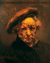 REMBRANDT Harmenszoon van Rijn. Self-portrait with Beret (unfinished)