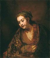 REMBRANDT Harmenszoon van Rijn. Portrait of Hendrickje Stoffels