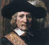 REMBRANDT Harmenszoon van Rijn. The Standard Bearer (Floris Soop). 1654