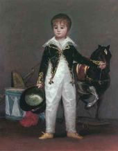 Francisco de GOYA. Jose Costa y Bonells, Called Pepito. 1813 (?)
