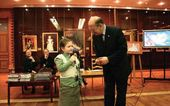 """Moscow's Historical Museum. The museum's director Alexander Shkurko at the closing of the exhibition """"Golden Children"""""""
