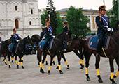 Церемония открытия Дня музеев на Соборной площади Московского Кремля