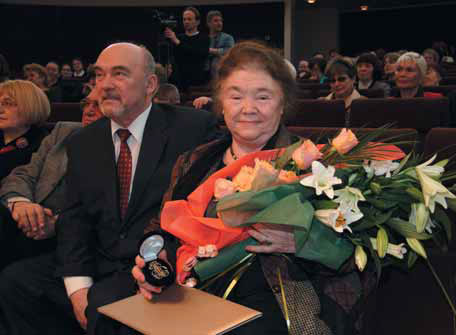 Lydia Iovleva, Tretyakov Prize Laureate and the General Director of the Tretyakov Gallery Valentin Rodionov