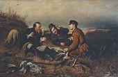 Vasily PEROV.  Hunters Resting. 1871