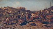 Konstantin SAVITSKY. Repair Works on the Railway. 1874