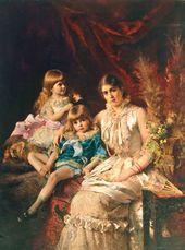 Konstantin MAKOVSKY. Family Portrait. 1882
