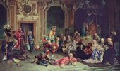 Valery JACOBI. Jesters at Anna Ioannovna's Court. 1872