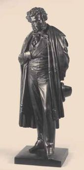 Alexander Sergeevich Pushkin. Replica of the model of the monument erected in Moscow (1875)