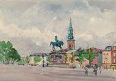 A Square in Copenhagen. 1955