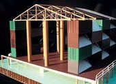 Nomadic Museum. Model. Аrchitect Shigeru Ban