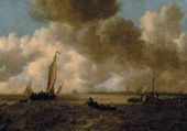 Jan van GOYEN. A Stormy Seascape. 1665